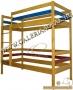 Emeleteságy, függőleges létrás - 90x200